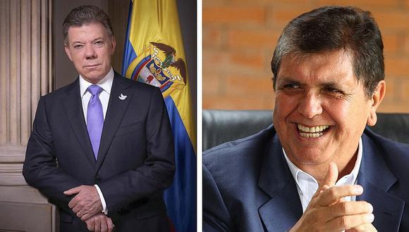 Alan García salvó de secuestro al expresidente colombiano  Juan Manuel Santos