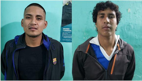 Atrapan a dos individuos sindicados por robo en Tumán