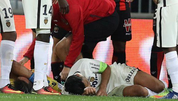 Radamel Falcao sufrió brutal golpe en la cabeza y fue internado (VIDEO)