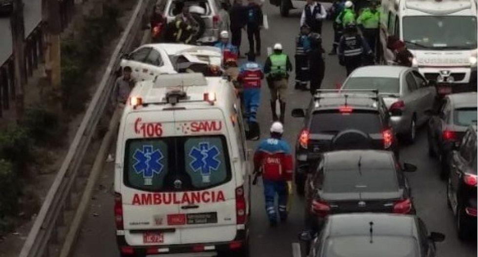 Se registra choque múltiple en la avenida Javier Prado