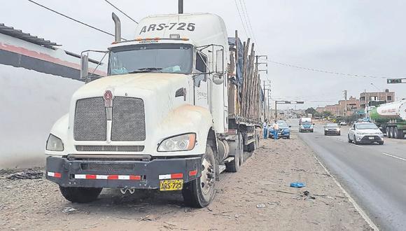 Accidente de tránsito se registró en el cruce al distrito de Salaverry.
