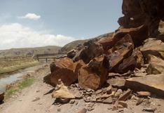 Desprendimiento de rocas casi sepulta a campesino en el distrito de Umachiri, en Puno