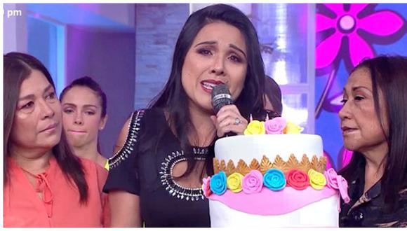 Tula Rodríguez lloró en su cumpleaños al recordar a su esposo Javier Carmona (VIDEO)