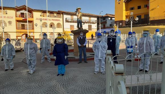 Inician control casa por casa para identificar pacientes Covid en Julcán