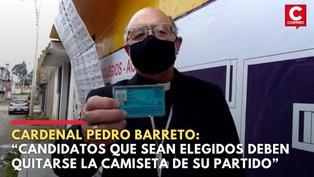 Arzobispo de Huancayo Pedro Barreto pidió a la población que ejerza su derecho al voto