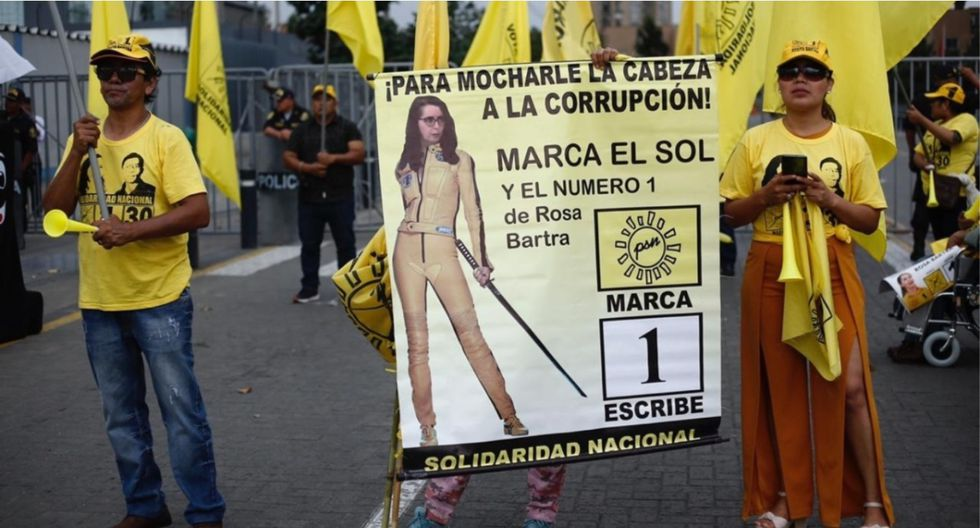Simpatizantes de Solidaridad Nacional. (Foto: Joel Alonzo / GEC)
