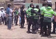 Pobladores protestan ante presencia del gobernador