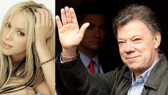 Juan Manuel Santos agradeció mensaje de aliento de Shakira por su salud