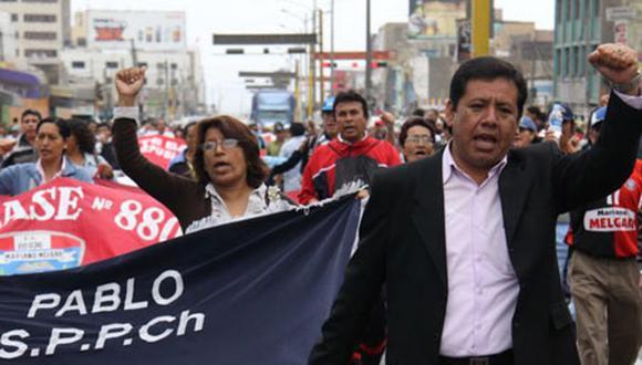 Marcha del Sutep congestiona el tránsito en el Cercado de Lima