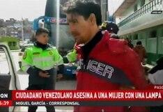 Pasco: Fallece trabajadora de limpieza luego de ser atacada con una lampa