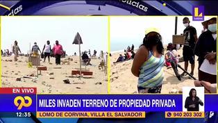 """""""Que vengan a invadir los que no tienen casa"""": Mujer invita a más personas a invadir propiedad privada en Villa El Salvador (VIDEO)"""