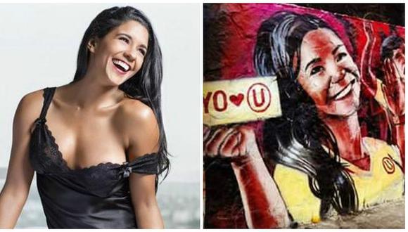 Rocío Miranda: Le crean un mural y los hinchas de Universitario de Deportes protestan