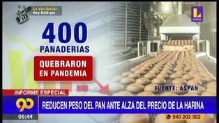 Panaderías disminuyen el peso del pan que ofrecen para no incrementar el precio de venta (VIDEO)