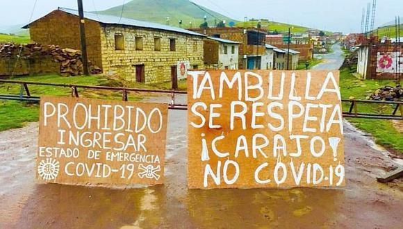 Coronavirus: comunidades campesinas cierran accesos para prevenir contagio en Apurímac