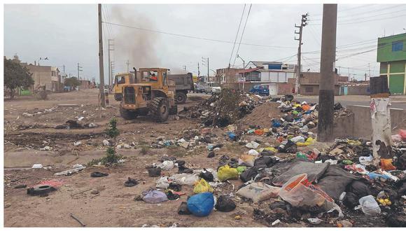 Chiclayo y José Leonardo Ortiz son zonas críticas por la gran cantidad de residuos sólidos que se acumulan en sus calles.