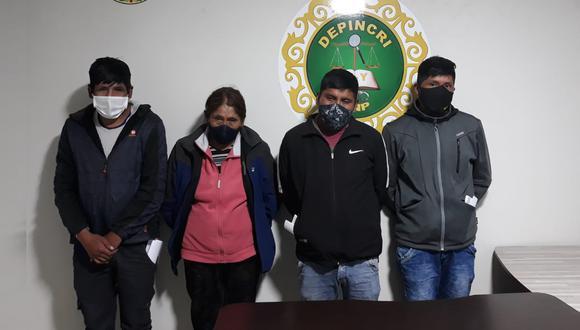 Los acusados fueron trasladados hasta la dependencia policial para seguir con las diligencias de ley. (Foto: Feliciano Gutiérrez)