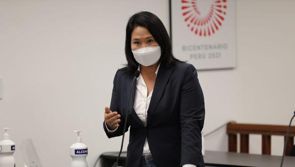 Keiko Fujimori en la audiencia de prisión preventiva. (Foto: Poder Judicial)