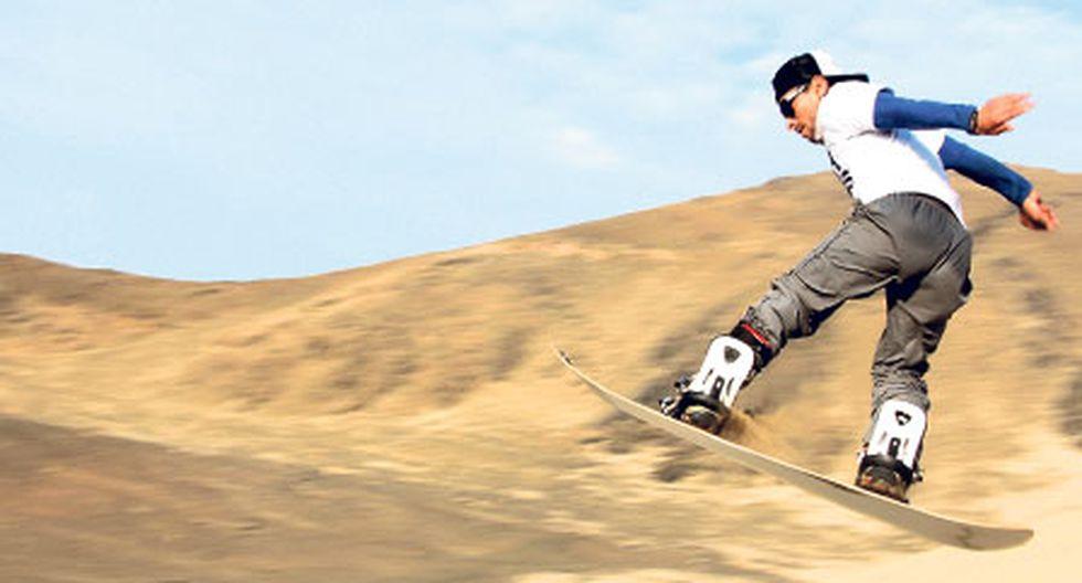 Campeón mundial de sandboard es peruano y ahora quiere conquistar la nieve