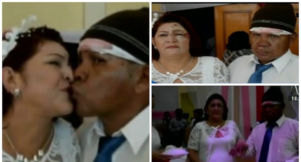 ​Pucallpa: novios son atropellados y con moretones llegaron a casarse (VIDEO)