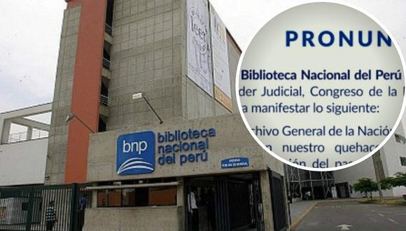 Biblioteca Nacional se pronuncia tras demanda del Poder Judicial (FOTO)