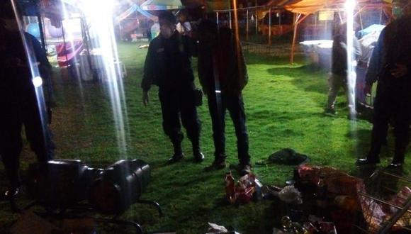 Huancayo: Enardecidos vecinos propinan golpiza a sujeto que ingresó a robar en iglesia.