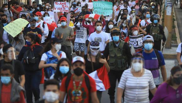 Lambayeque: piden que quienes participaron de las protestas se aíslen para evitar contagios por el COVID-19. (Foto: Gore Lambayeque)