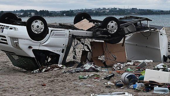 Siete personas mueren a consecuencia de un tornado en Grecia
