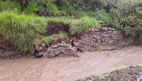 260 hectáreas en riesgo por torrentera el Chullo