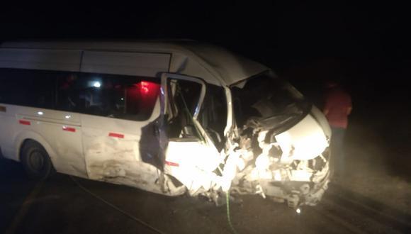Accidente de tránsito deja 12 heridos en la carretera a Tumán