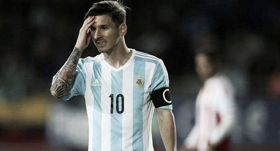 Lionel Messi en duda para el partido frente a Uruguay