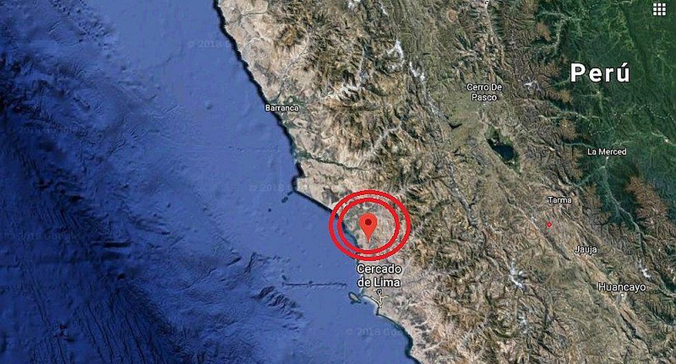Sismo de magnitud 3.2 se registró en Lima