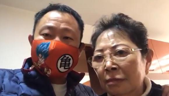Kenji Fujimori apareció con Susana Higuchi para apoyar a Keiko Fujimori. (Captura)