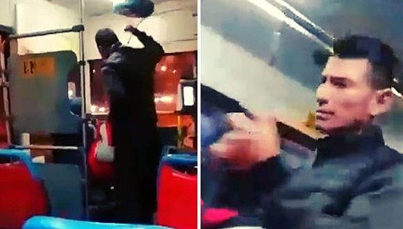 Corredor Azul: pasajero agarró a golpes a chofer porque no se detuvo donde él quería (VIDEO)