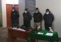 Detienen a cuatro policías implicados en robos y tráfico ilícito de drogas en Ayacucho (VIDEO)