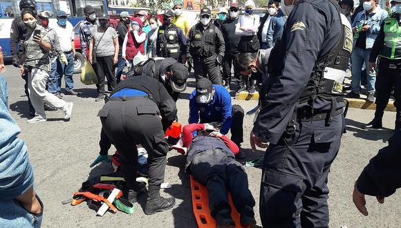 Unidad intentó huir del operativo que se venía ejecutando por parte de la municipalidad provincial de Arequipa