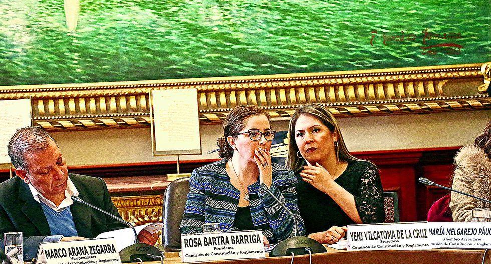 """Vilcatoma reveló haberse """"dado cuenta de las mentiras"""" de Bartra cuando trabajaban juntas en el Parlamento. (Foto: GEC)"""