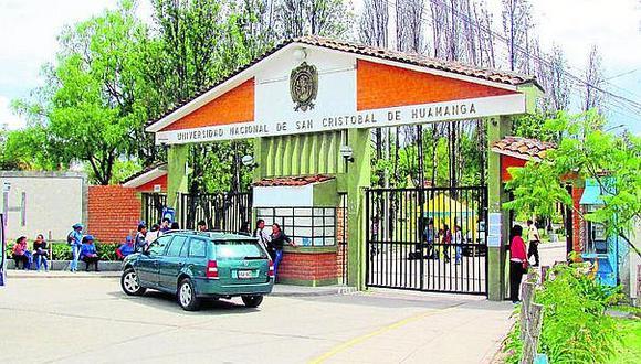Elecciones en la Universidad San Cristóbal de Huamanga ya cuenta con nueva fecha
