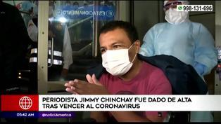Jimmy Chinchay fue dado de alta tras superar la COVID-19