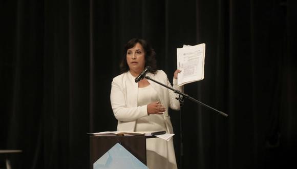 """Candidata a la primera vicepresidencia de la República por Perú Libre consideró que """"hay que saber perder con humildad"""". (Foto: GEC)"""