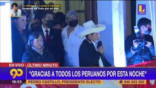 """Pedro Castillo: """"Invoco a Keiko Fujimori a que no pongamos más obstáculos para sacar adelante al país"""""""
