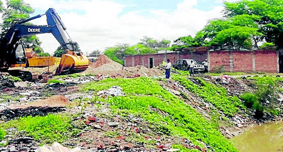 Piura: Ya realizan limpieza en tres drenes del distrito Ignacio Escudero
