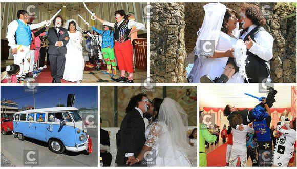 Huancayo: 'Chupetín' se casa vestido de payaso (VIDEO)