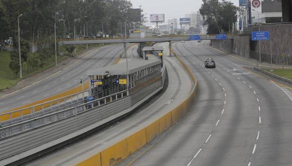 La Policía Nacional informó que el cierre de cinco vías de Lima se extenderá durante todo el periodo de la cuarentena total, que va del 1 al 4 de abril.