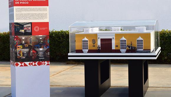 La maqueta de la histórica construcción donde residió el general San Martín fue presentada el mes pasado.