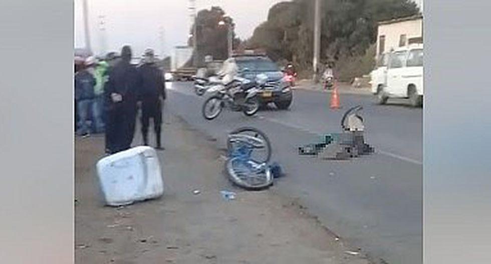 Heladero muere tras ser arrollado por un tractor en Chepén