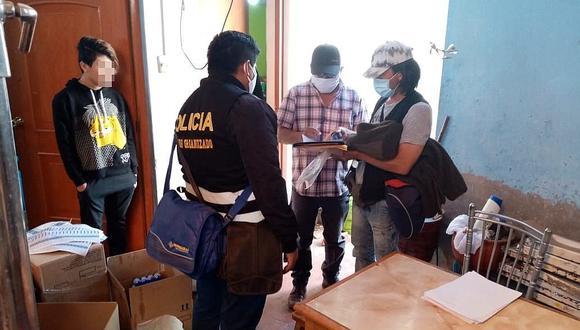 Arequipa: Intervienen a fábrica clandestina de elaboración de alcohol, thimolina