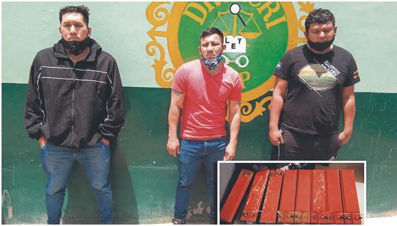 En una acción conjunta entre agentes de Carreteras de Olmos y la Divincri de Chiclayo, lograron capturarlos.