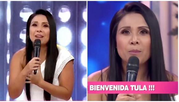 Tula Rodríguez reapareció en las pantallas de América Televisión este lunes, tal como lo anunció en sus redes sociales. (Foto: América TV)