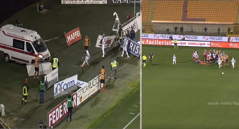 Tras chocar con rival futbolista pierde el conocimiento y suspenden el partido (VIDEOS)
