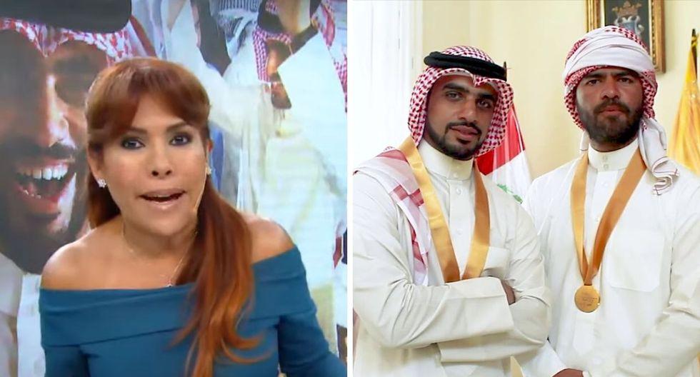 Magaly Medina y el empresario árabe. Foto: Captura de pantalla - ATV